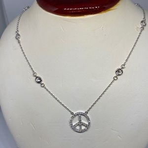 Jewelry - Sterling silver peace sign Diamond by the yard